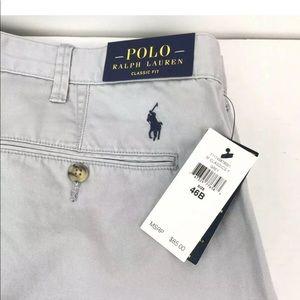 NWT Polo Ralph Lauren Mens Shorts Gray Size 46B